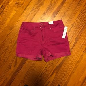 Magenta shorts in a size 10 by time & tru
